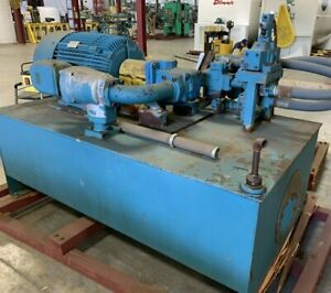100hp Hydraulic Power Pack With Vickers 50v 85 a 1c 11 132 Vane Pump 350gal Tank