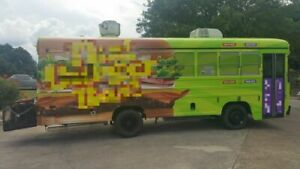 Eye catching Blue Bird 25 Kitchen Bustaurant Used Food Truck Bus For Sale In