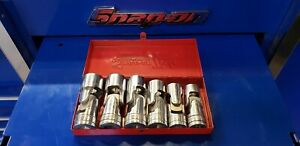 Snap On Tools Six Piece Swivel Socket Set 1 2 Drive With Metal Case