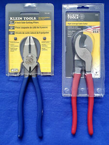 Klein D201 9ne Linesman Side cutting Pliers 9 1 2 63050 High Leverage Cable