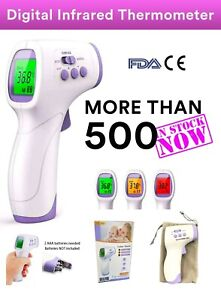 Thermometer Non contact Body Forehead Ir Infrared Laser Digital