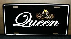 Queen Metal Novelty Car License Plate For Cars