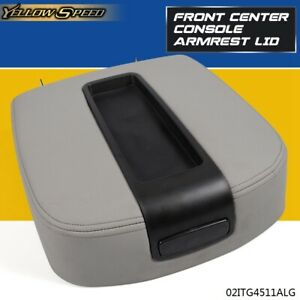 Front Center Console Armrest Lid Assembly For Chevy Gmc Silverado Sierra Gray