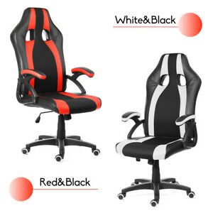 Ergonomic Office Chair Recliner Racing Computer Gaming Chairs Swivel Footrest