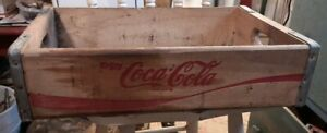 Vintage Coca-Cola Wood Crate Wood & Metal