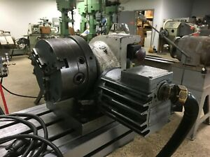 Yuasa sudx 5ca Rotary Table Indexer With 3 jaw Chuck With Control