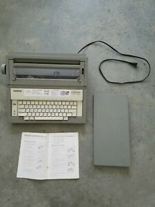 Vintage Brother Gx 6000 Electric Portable Typewriter W cover Works Great Clean