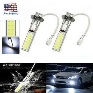 2x H3 9 Led 12v Fog Light Bulbs Driving Lights Replacement Bright White New