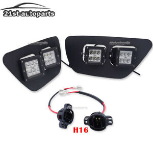 4x Bumper Led Cube Pod Foglight Bracket Kit H16 Wire For 15 up Chevy Colorado