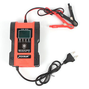 Auto Car Battery Charger Automatic For Gel Agm Wet Batteries Quickly Charge Y0w3