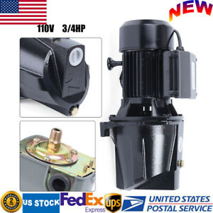 110v 3 4 Hp Shallow Well Jet Pump Heavy Duty Pump W Adjustable Pressure Switch