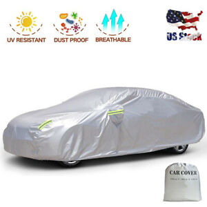 Big Ant Car Cover breathable Sedan Cover Waterproof Car Covers Full Size sliver