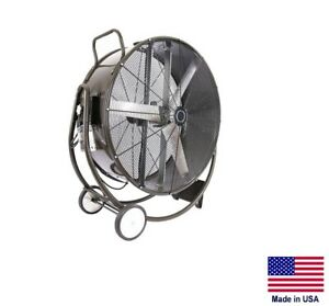 Drum Fan Commercial Dolly Mounted 48 1 Hp 230v 1 Phase 19 100 Cfm