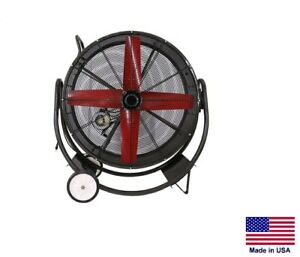Drum Fan Commercial Dolly Mounted 36 1 2 Hp 115 230v Tefc 12 100 Cfm