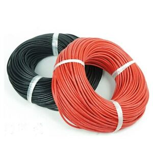 30 Awg Gauge Wire 25 Ft Red And 25 Ft Black Total 50 Ft Usa Sold ship