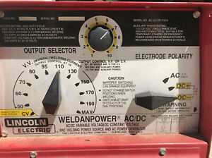 Lincoln Arc Welder Ac 225 dc 210 6 Various E6013 Welding Sticks Included
