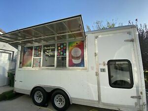 Used 2009 7 5 X 16 Wells Cargo Ice Cream Concession Trailer For Sale In Cali