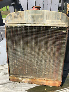 Allis Chalmers B Tractor Radiator Assembly W Shroud Pre owned