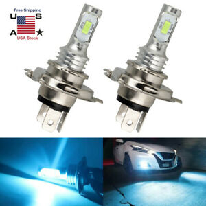 2x H4 9003 Ice Blue Led Headlight Bulb Conversion Kit High Low Beam 8000k 8000lm