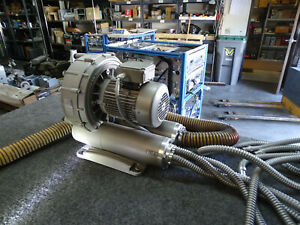 2008 Becker Sv 8 190 1 01 3 Phase Industrial Vacuum Pump Blower W Hoses