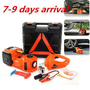 5t 11023lb Car Electric Hydraulic Jack Air Pump Electric Wrench Set Repair Tools