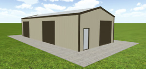 Steel Building 24x50 Simpson Metal Building Kit Garage Workshop Prefab Structure