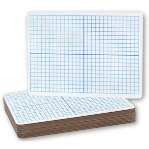X Y Axis Dry Erase Boards 12 pack