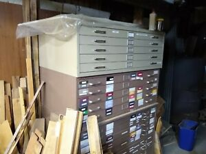 20 Drawer Steel Blueprint Plans Map Art Architect Flat Filing Cabinet