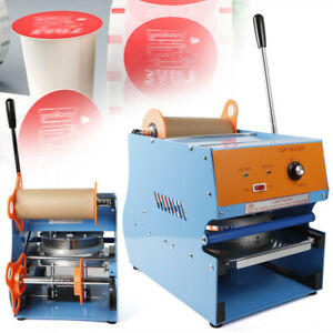 110v Electric Sealing Machine For Plastic Drink Tea Cups Bubble Sealer Us