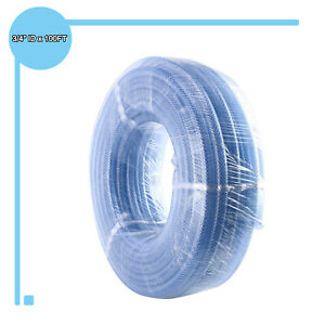 3 4 Id X 1 Od X 1 8 Wall Thickness Clear Pvc Tubing Vinyl Hose Water 100ft