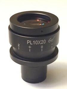 Accu scope Microscope Pl10x 20 Eyepiece 23 3mm Diameter 20mm Fov