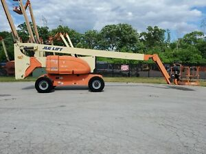 2008 Jlg 800aj Boom Lift 4x4 Osc Axle Skypower Foam Filled Tires Articulating