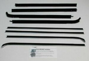 1971 1974 Chevrolet Impala 4 Door Sedan Beltline Weatherstrip Set 8 Piece