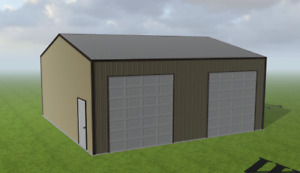 Steel Building 30x30 Simpson Metal Building Kit Garage Workshop Barn Structure