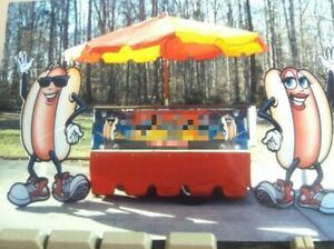 2009 Top Dog Carts 4 X 6 Hot Dog Vending Cart concession Cart For Sale In Nort