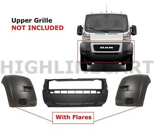For Promaster Front Bumper End Cap Cover W o Upper Grille 19 20 Ram 1zt90jxwab