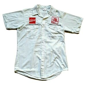 Coca Cola Diet Coke Employee Delivery Driver Short Sleeve Shirt Light Green