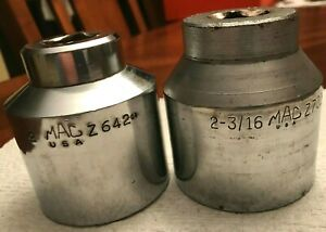 2pc Set Mac Tools Large 12 Pt Socket 3 4 Drive Z642 Z702 Shallow Lot Jumbo Sae