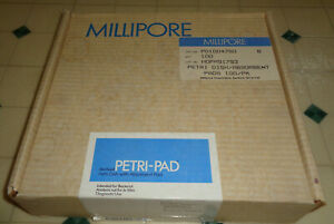 80x Sealed Millipore Sterile Petri Dishes 47 Mm W Absorbent Pads More