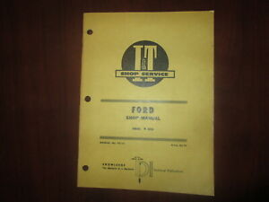 Ford 8000 Tractor Shop Manual I t fo 25 Vintage 1969 Original Print Service