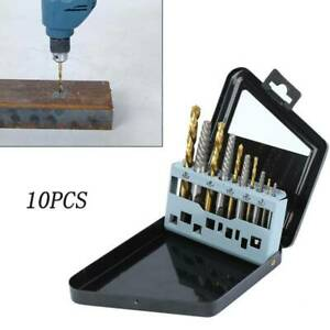 10pcs Easy Out Bolt Screw Extractor Drill Bit Damaged Screw Extractor Remove Set
