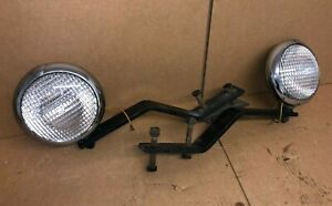 Vintage Unity Driving Lamp Spot Light Pair Left Right Hot Rod Rat Rod Nice