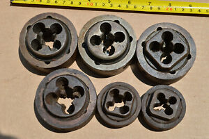 6 Piece Lot Little Giant Vermont Pipe Threader Die Set 1 5 Greenfield