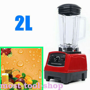 Commercial Heavy Duty Juice Smoothie Cereals Sorbet Powerful Blender 1500w 2l