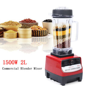 Commercial Pro 1500w Heavy Duty Grade Blender Mixer Juicer Ice High Power