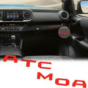 For Toyota Tacoma 2016 2020 Glossy Red Interior Glove Box Letter Insert Stickers
