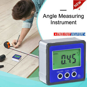 Digital Inclinometer Spirit Angle Finder Gauge Meter Bevel Level Box Protractor