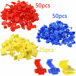 125 Pack All Sizes Quick Splice Tap Wire Connectors 12 10 16 14 22 18 Gauge Hot