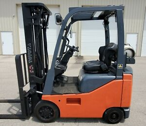 2014 Toyota 8fgcu15 Side shifter Cushion Tires Lpg Lift Truck Toyota Hyster