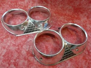 1964 64 Mercury Comet Caliente Headlight Bezel Rings Pair Left And Right